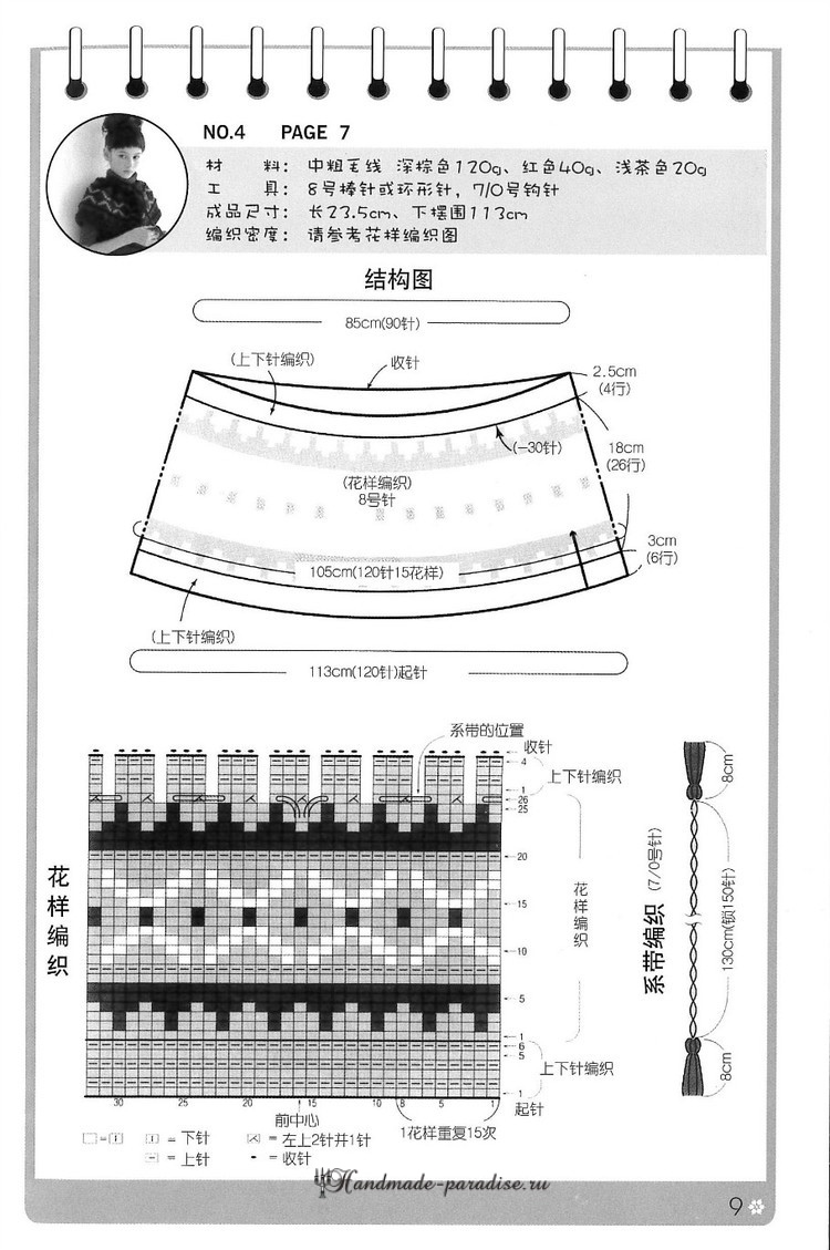Шали, пончо и накидки в японском журнале со схемами (9)