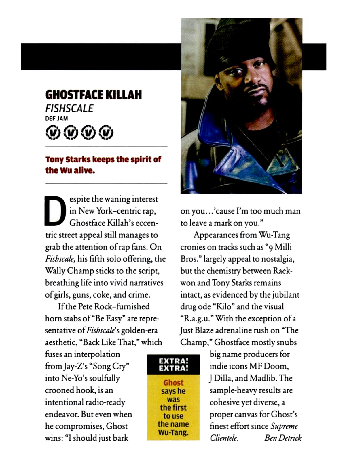 Ghostface Killah Fishscale Vibe April 2006 Album Review