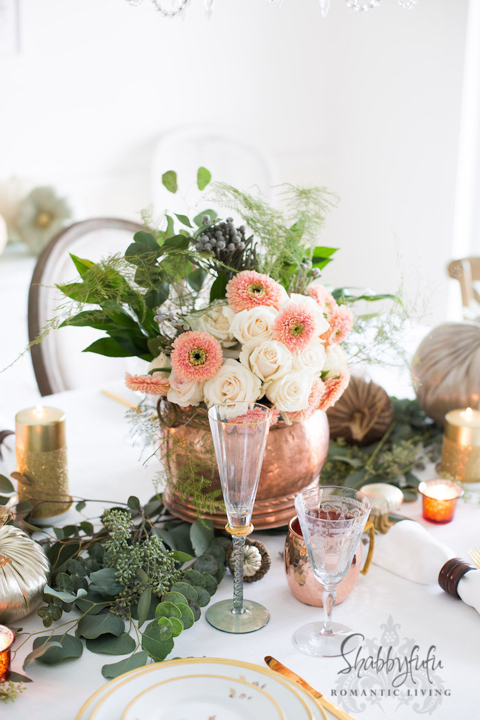 Thanksgiving Table Setting Decor And Centerpiece