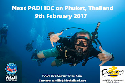 Next PADI IDC on Phuket, Thailand starts 9th February