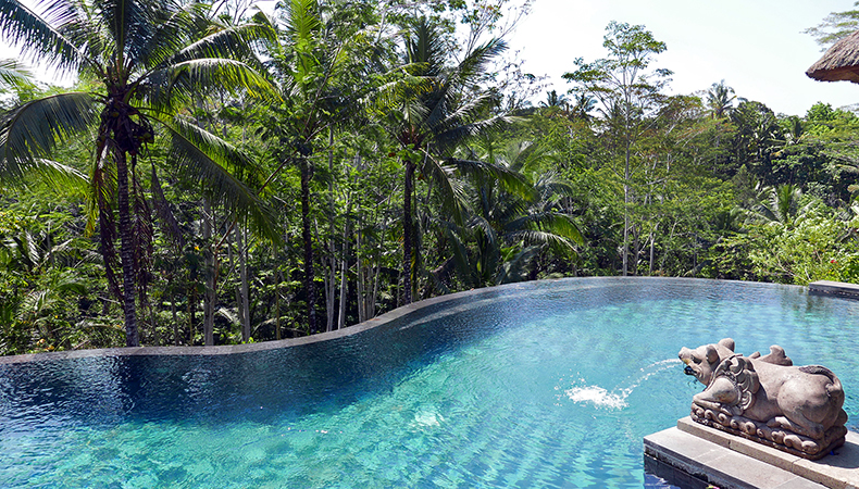 Euriental | fashion & luxury travel | Ubud, Bali, Villa Amrita infinity pool