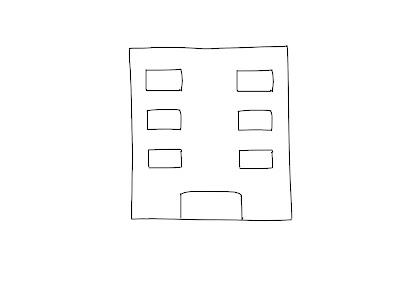 アイコン 「会社」 (作: 塚原 美樹) ~ 窓を6つくらい描く