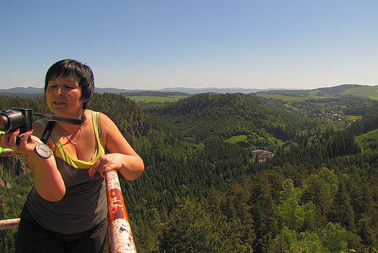 Widok na Střmenské podhradí.