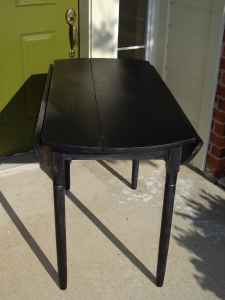 V Larue Designs Farmhouse Rustic Black Table From The