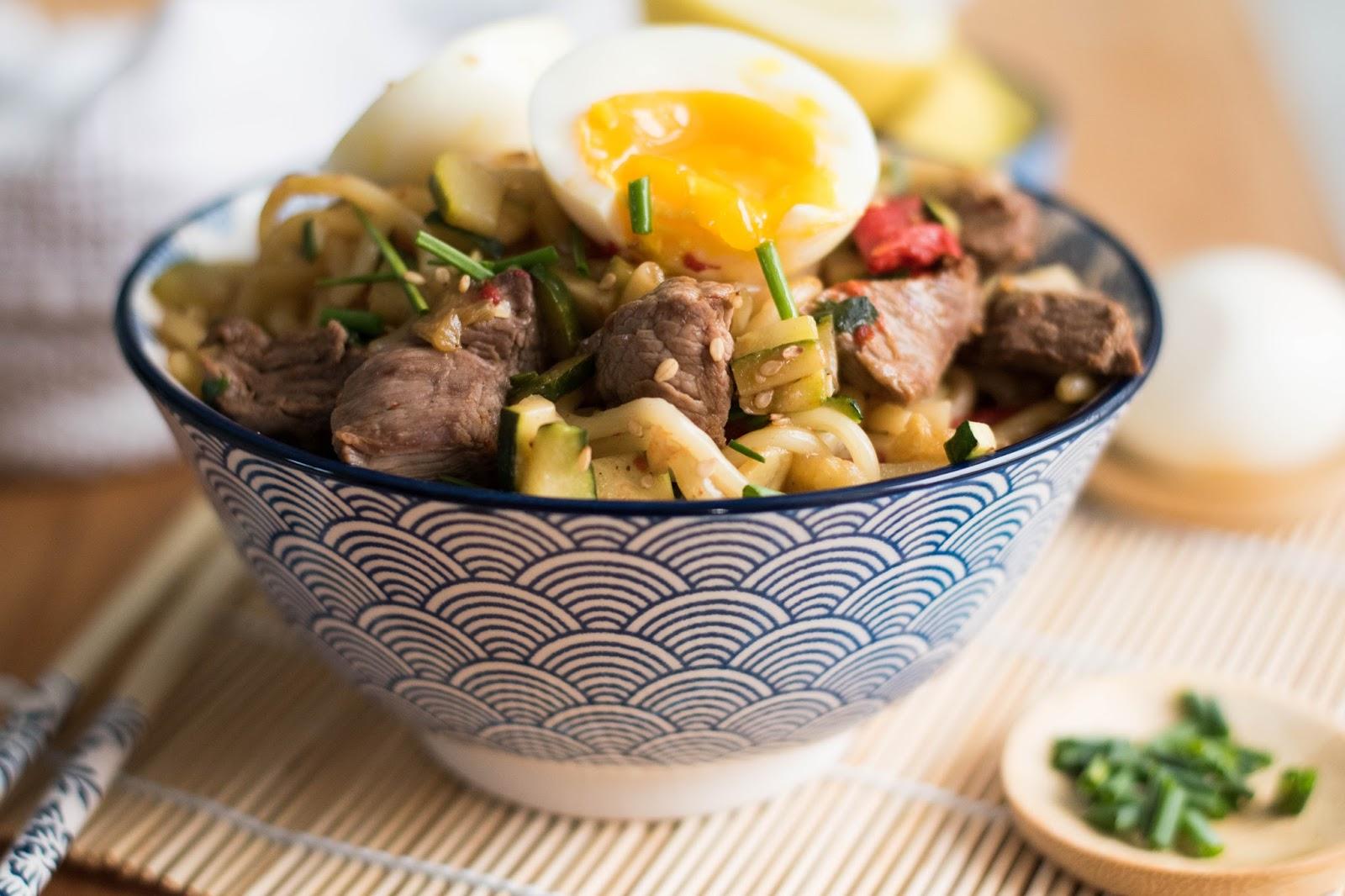 recette udons poêlés sauce barbecue