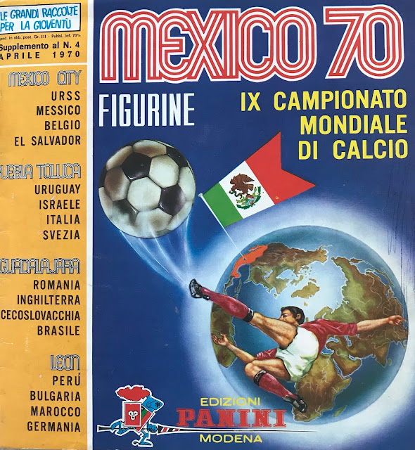 Album Panini Messico '70 versione italiana