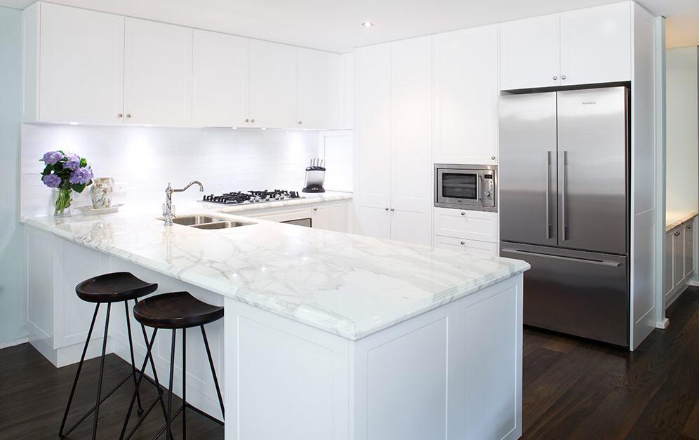 Encimeras de m rmol una opci n para la cocina cocinas for Mejor material para encimeras de cocina
