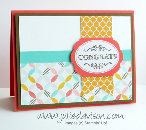 Stampin' Up! Sale-a-bration Simply Wonderful + Best Year Ever DSP + Tag A Bag Accessory Kit #stampinup #saleabration www.juliedavison.com