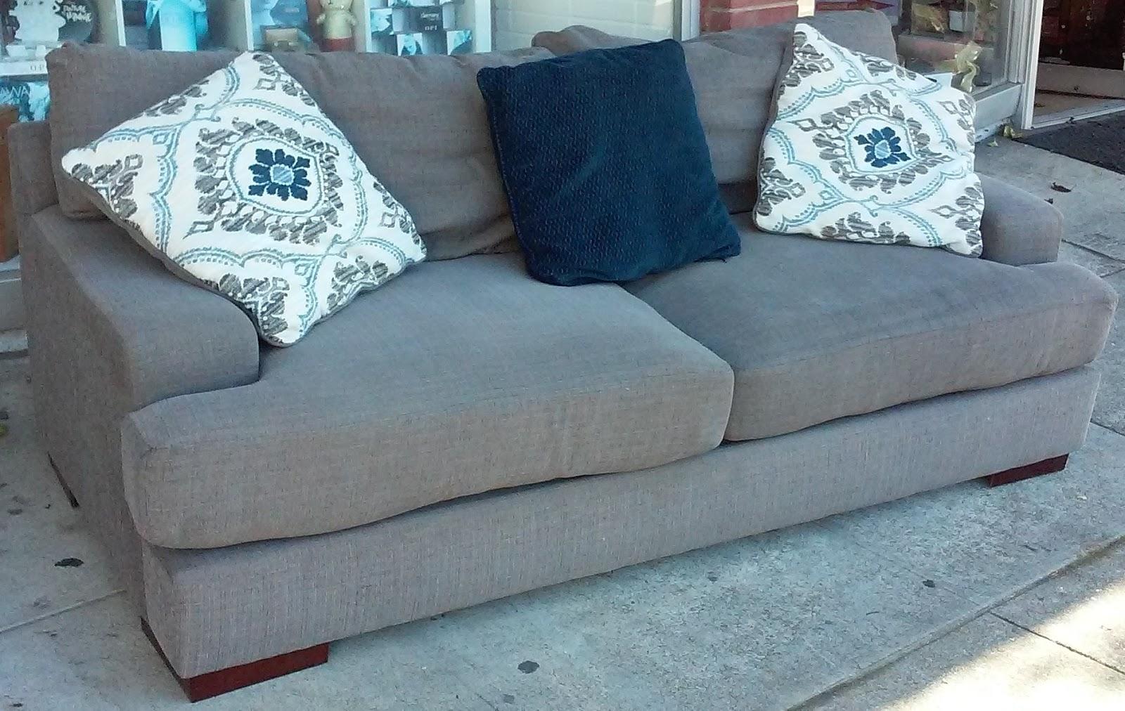 Uhuru Furniture Collectibles Sold Ashley Grey Tweed