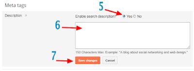 blogger, adding meta tags description,