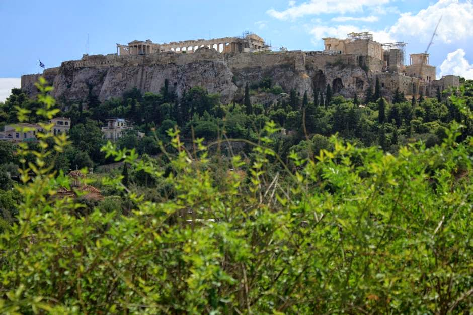 Acropolis from the Ancient Agora in Athens