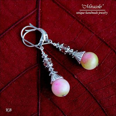 kolczyki z jadeitami, jadeite earrings