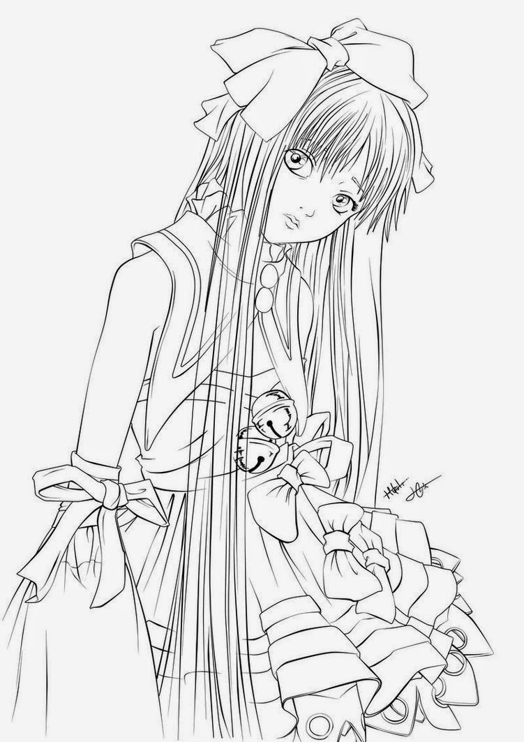 anime coloring pages deviantart art - photo#25