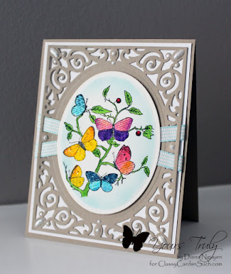 Diana Nguyen, Our Daily Bread Designs, Faith, butterfly, Filigree delight, Spellbinders, card
