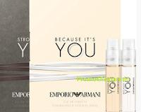 Logo Emporio Armani: richiedi le fialette omaggio delle fragranze per lui e per lei