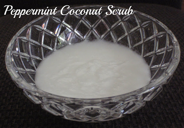 peppermint coconut sugar scrub
