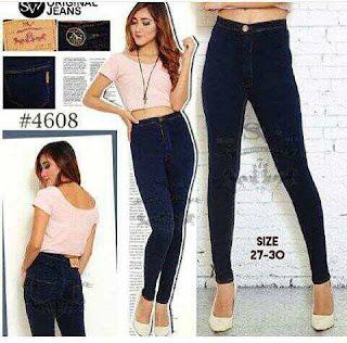 celana jeans cutbray, celana jeans, celana jeans wanita, celana jeans wanita sobek tidak tembus, celana jeans HW, celana jeans sobek tembus