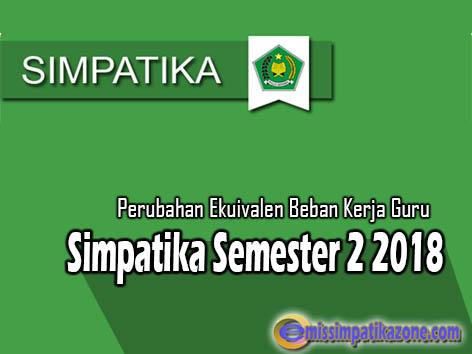 Info Perubahan Ekuivalen Beban Kerja Guru di Simpatika Semester 2 2017/2018