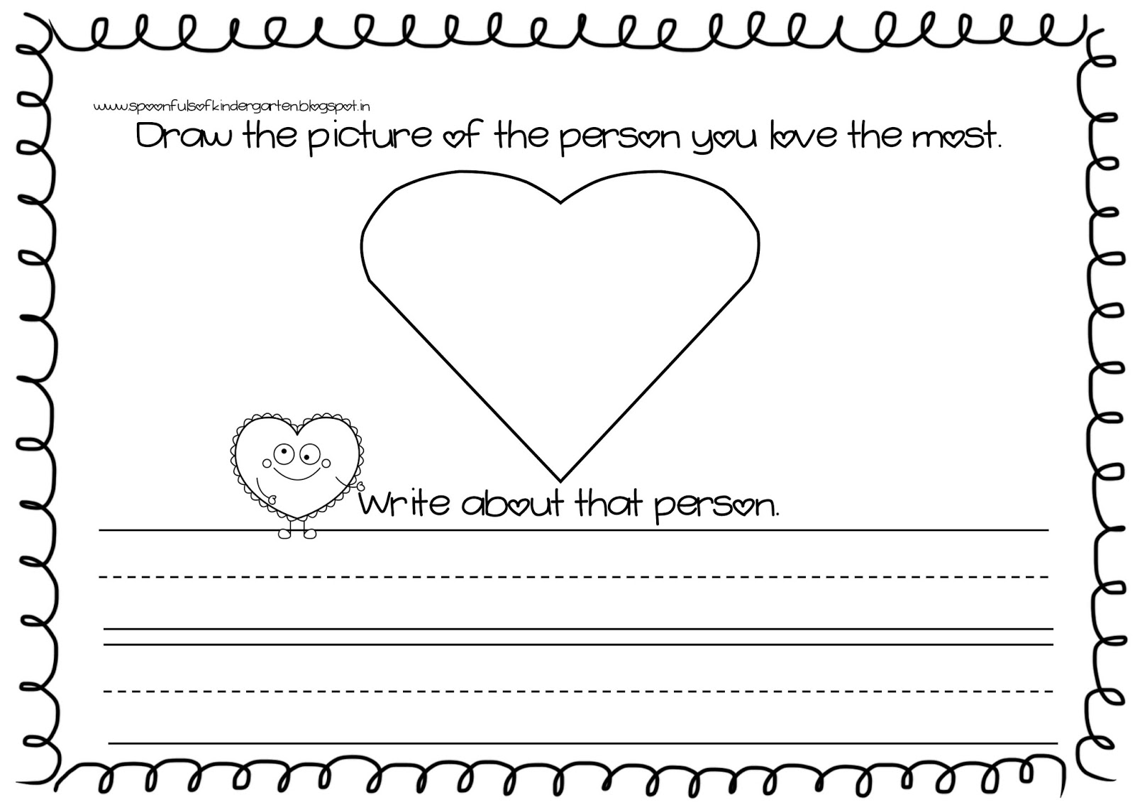 Spoonfuls Of Kindergarten Valentine S Day Writing Activity