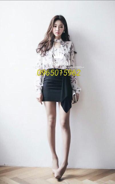 Set chân váy áo voan - F1007Mb - Ảnh 3
