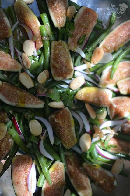 como hacer ensalada de judias verdes e higos 04