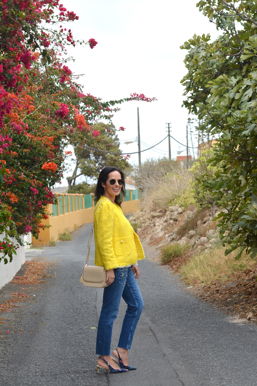 yellow-tweed-zara-jacket