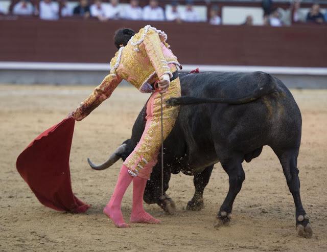 Resultado de imagen para Paco Ureña toreando por el pitón izquierdo en la octava de San Isidro. Cristina Bejarano.