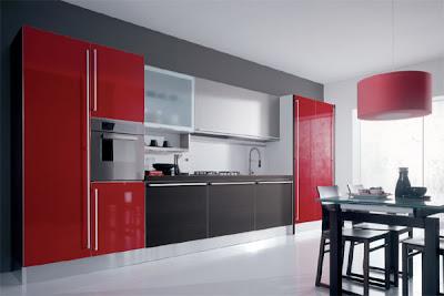 Architecture Landscape Interior Design Drafting Kabinet Dapur Hitam Merah Desainrumahid Com