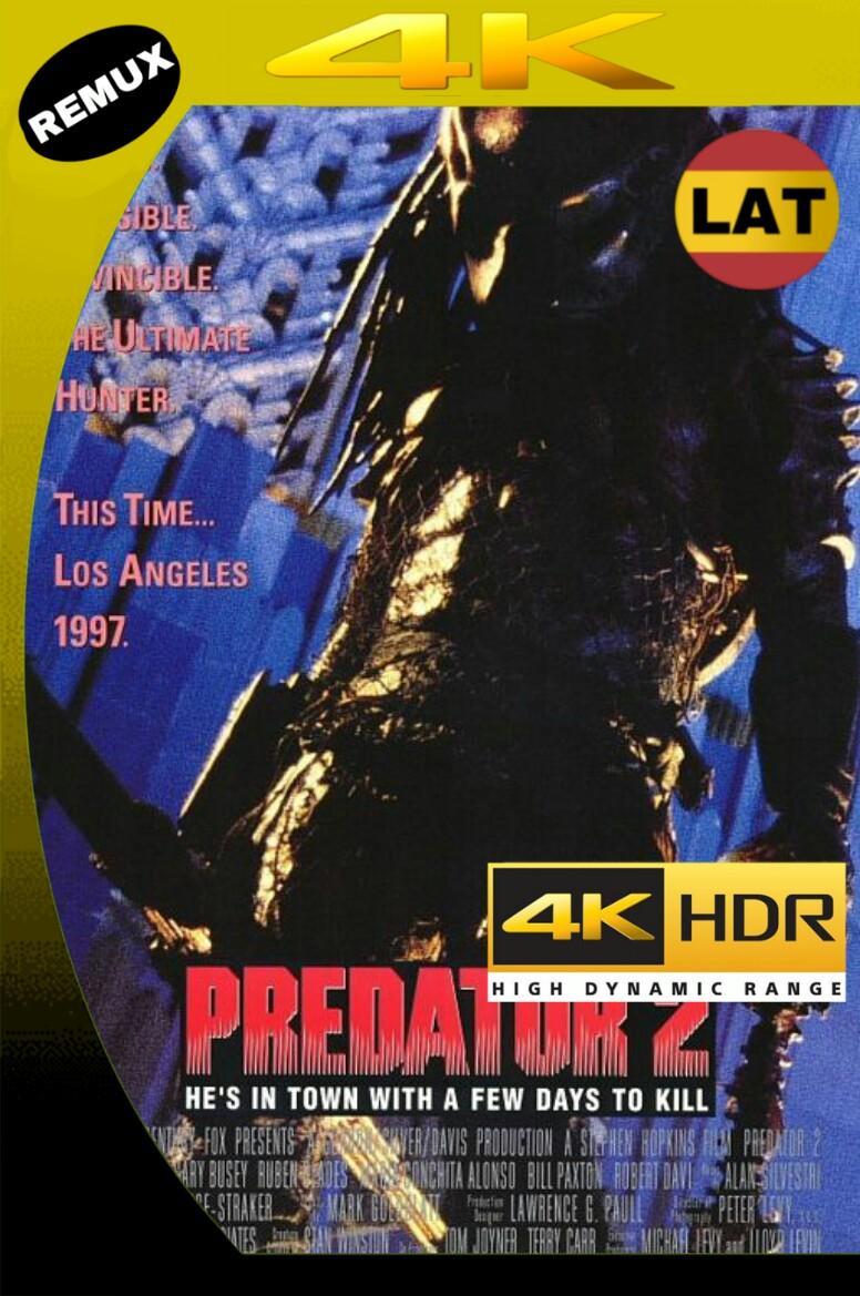 EL DEPREDADOR 2 (1990) BDREMUX 2160P UHD [HDR] LATINO+8 MKV