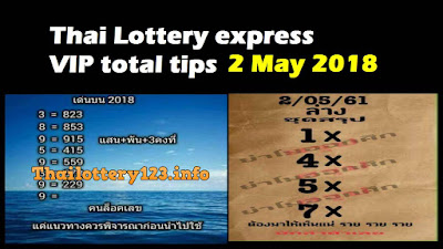 Thai Lottery express VIP total tips lucky paper 2 May 2018