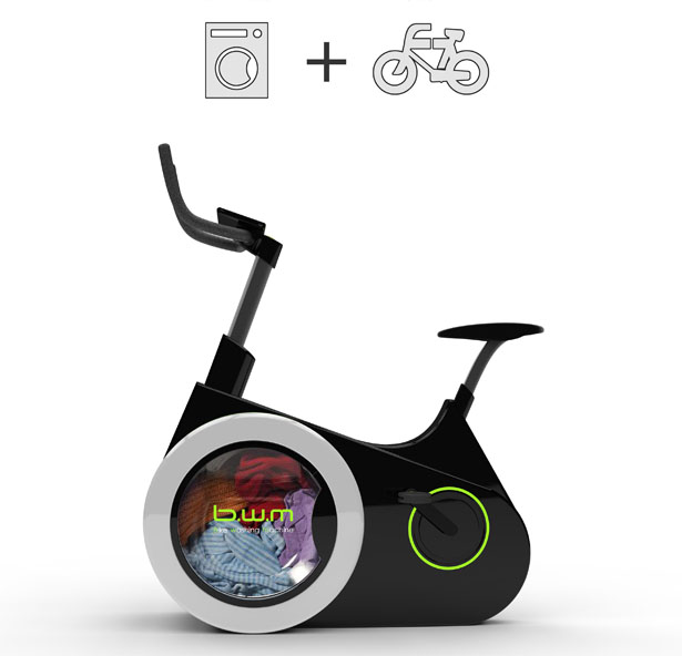 Exercise AND Wash Laundry With This Amazing Eco-Friendly Bicycle