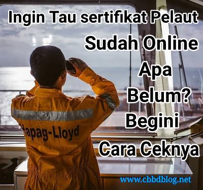 cara cek sertifikat pelaut sudah online apa belum dengan code
