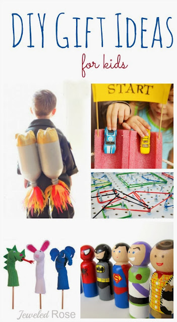 Why buy what you can make?   A great collection of DIY gifts for kids