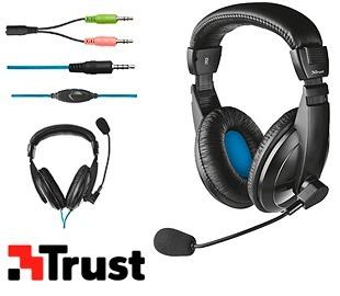 trust 21661 cuffia auricolare microfono