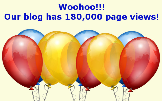 September 2nd we reached 180,000 page views