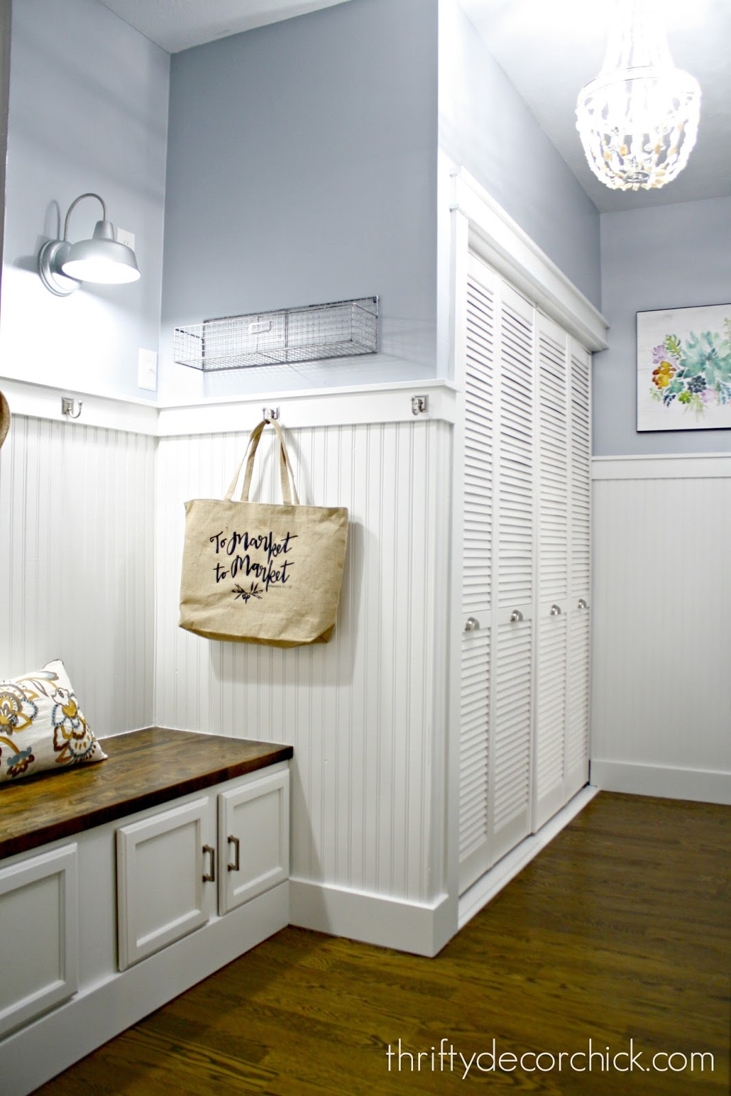 fresh mudroom white board and batten
