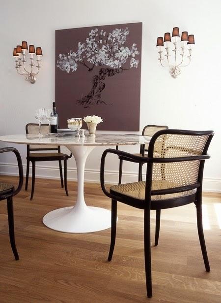 comedor con deco silla thonet armchair mesa tulip
