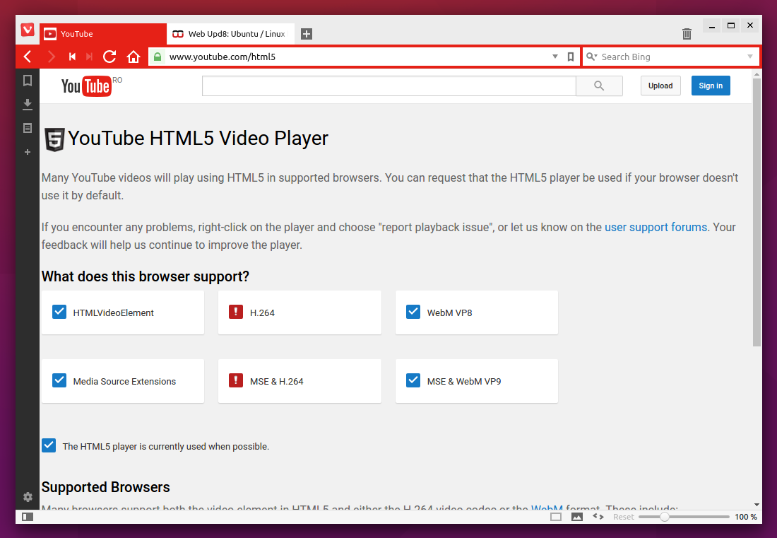 How To Get Flash And H 264 To Work In Vivaldi Browser (Ubuntu, Linux