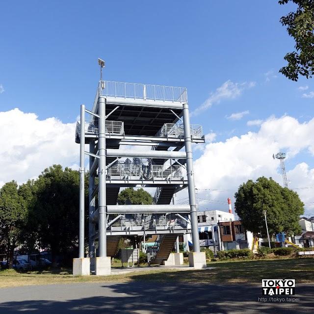 【鈴川港公園】15公尺高的海嘯避難塔 成為看富士山的好地方