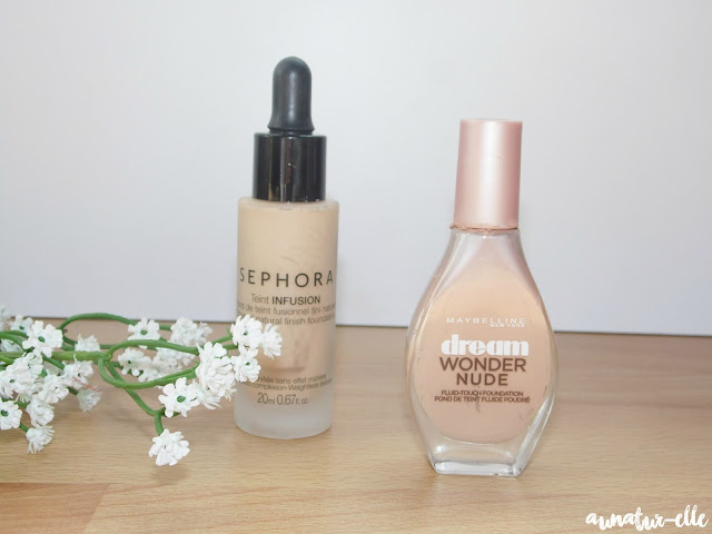 fonds de teint Sephora et dream wonder nude