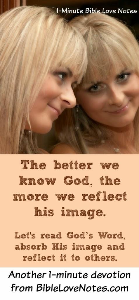 Spittin image, reflecting God's image, made in God's image