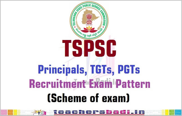 TSPSC Principals,TGTs,PGTs Recruitment Exam Pattern/Scheme of exam
