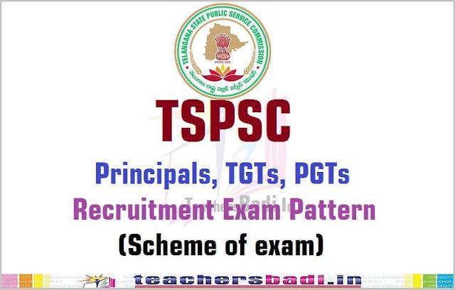 TSPSC Principals,TGTs,PGTs Recruitment Exam Pattern/Scheme of exam