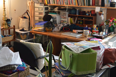 My messy desk & office space after working 86 hours during Spring Break