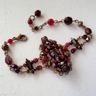 #dark #red #bracelet #rhinestone #rhinestonebracelet #bracelets #darkred #vintagestyle #vintage #handmade #rhinestones