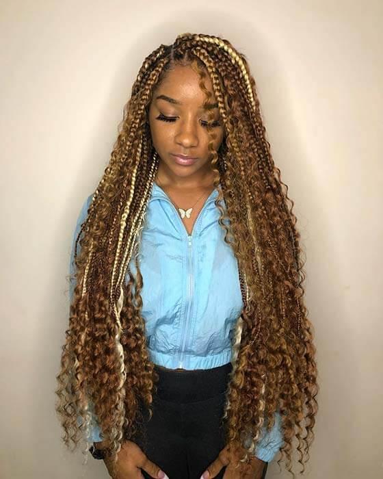 26 Amazing Goddess Box Braids Hairstyles Ponytails Tutorials 2019 Styleuki