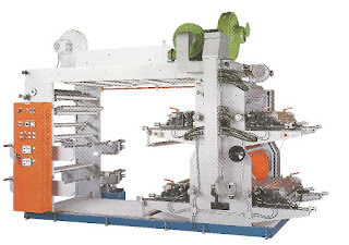 High Speed 4 Colors Flexographic Printing Machine With Stack Type