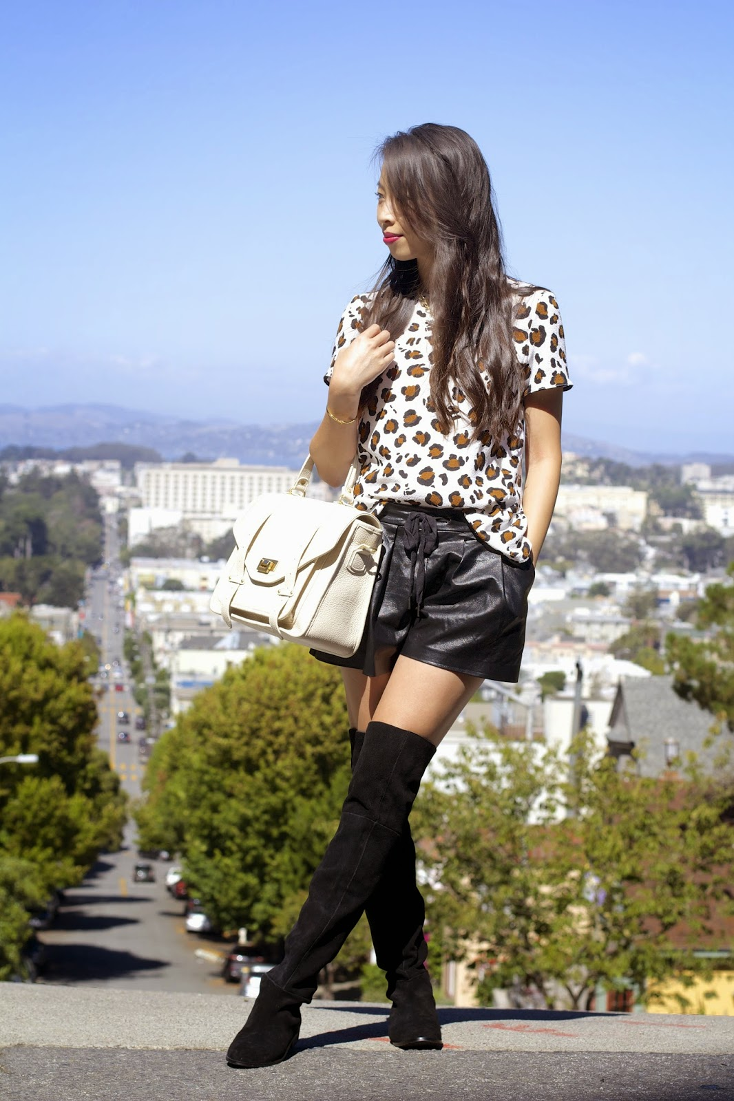 9c0c3a94a6f3 Like I said in the previous post, I'm loving leather (or pleather :D ),  leopard, and over the knee boots ...
