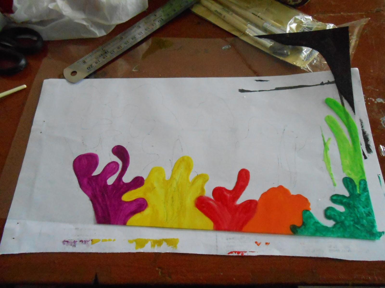 Sketsa Gambar Rumput Laut