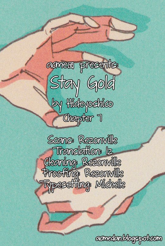Stay Gold - Chapter 12